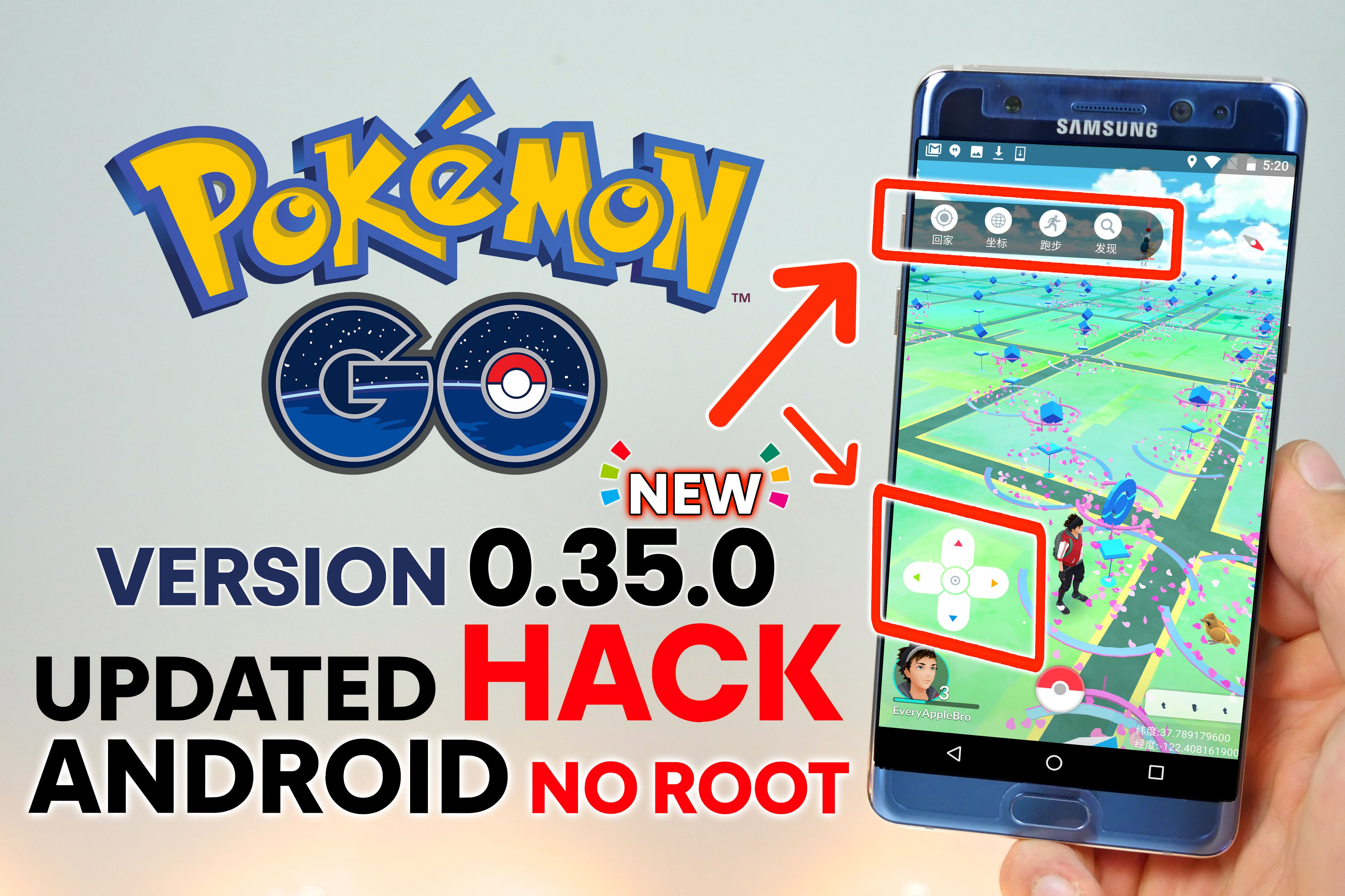 Pokemon GO Hack Android NO Root 0 35 0 - Teleport & Catch ANY