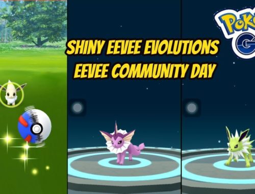 shiny eevee and evolutions