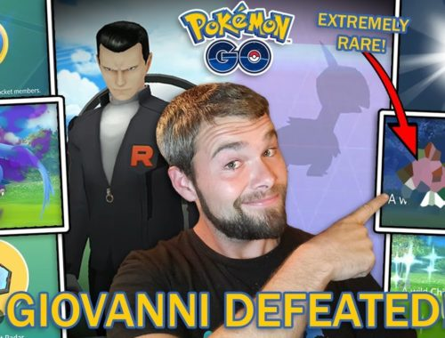 EXTREMELY RARE SHINY CAUGHT! GIOVANNI DEFEATED! SHADOW ARTICUNO! AND MORE! (Pokemon GO)
