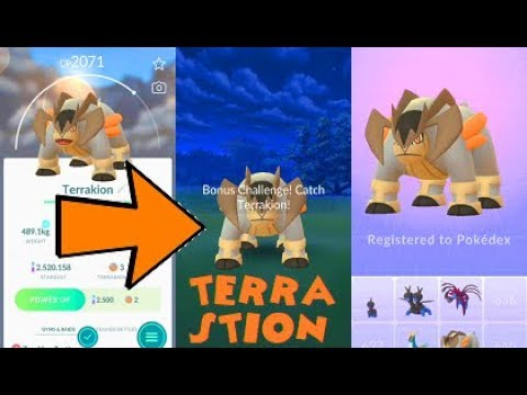 Pokemon Go Terrakion Raid & Catch