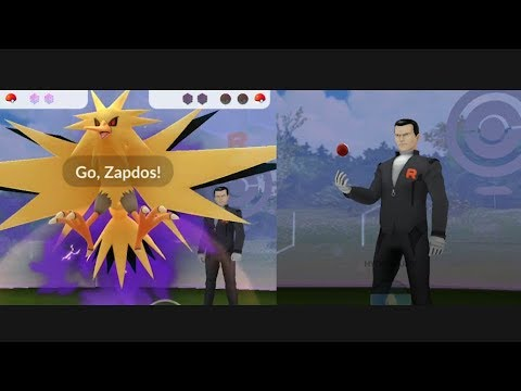New! How to defeat Giovanni - Zapdos in Pokemon Go!