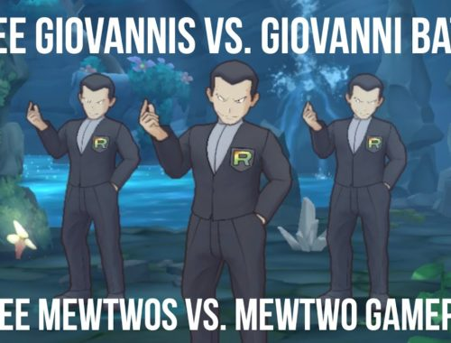 Pokemon Masters: Three Mewtwos VS. Mewtwo Battle | Take Down Giovanni (Very Hard) Co-op Gameplay